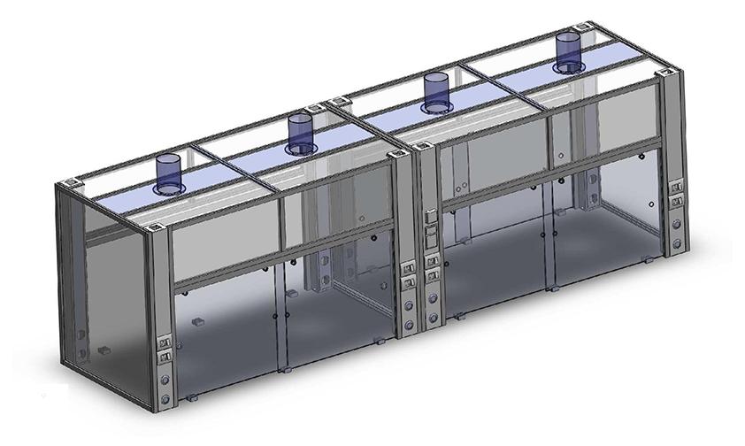 Aero Equipment Enclosure used for Rotavapours, Weighing Balances, Microscopes, Aerosol Testing, Sample Preparation