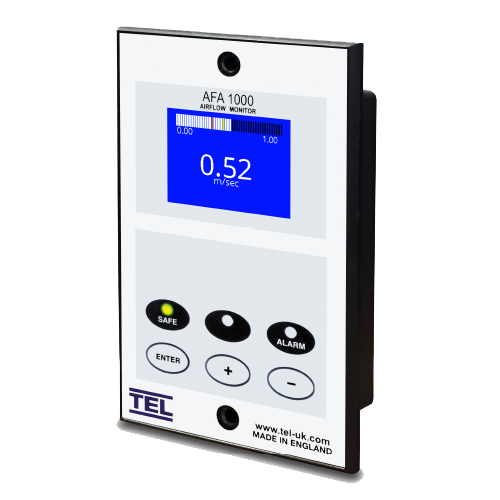 TEL VAV/AFA Airflow Monitor and Controls for managing lab airflow and providing safe and healthy environment
