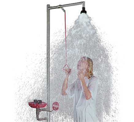 Flexible and Safe Emergency Shower System by SbyD