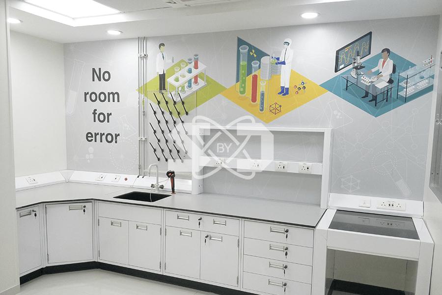 lab fume hoods, eye wash showers, turnkey laboratory, lab safety