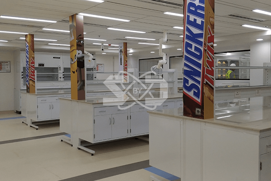 turnkey lab with spot extractors and eye wash showers